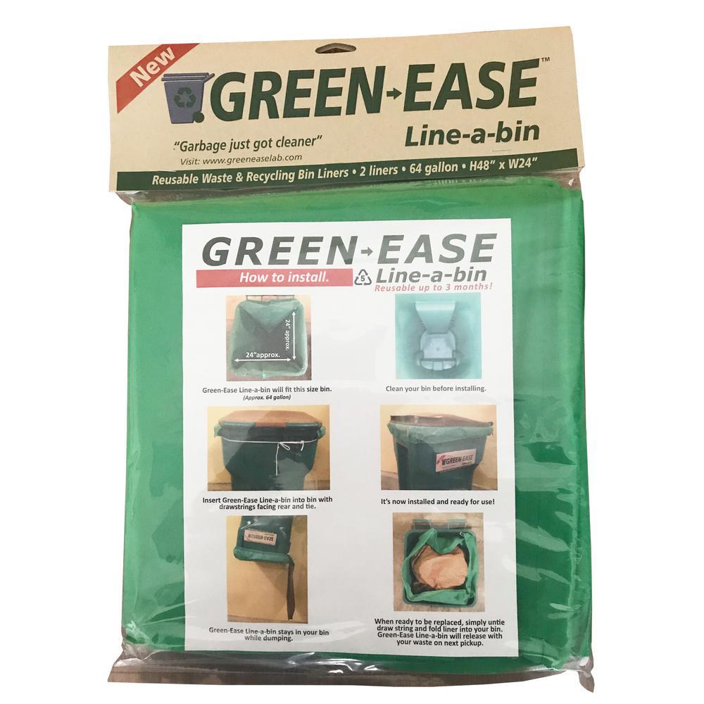 64 Gal. Trash Bin Liners (2-Pack)
