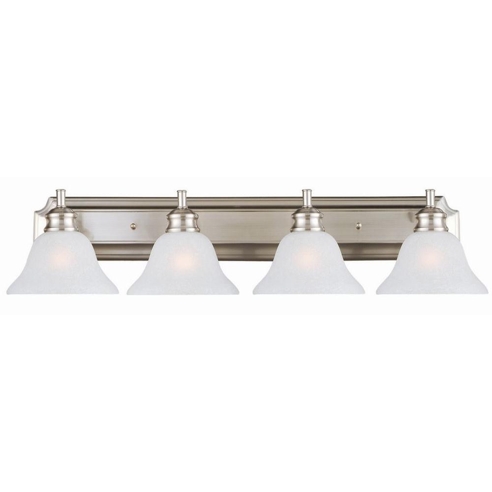 Design House Bristol 4-Light Satin Nickel Vanity Light