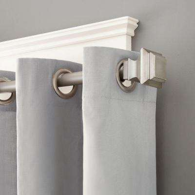 90 in. - 130 in. Lincoln 1 in. Premium Decorative Window Curtain Rod in Champagne Pewter