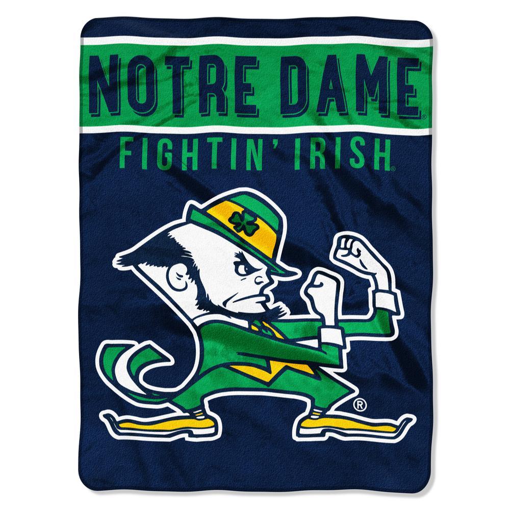 Notre Dame Multi Color Polyester Basic Raschel Blanket