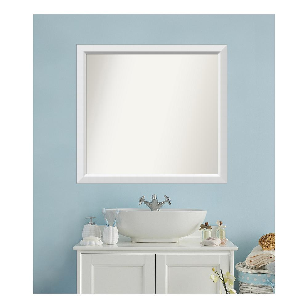 Amanti Art 35 in. x 38 in. Blanco White Wood Framed Mirror was $489.3 now $250.03 (49.0% off)