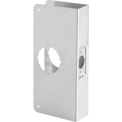 1-3/4 in. x 9 in. Thick Solid Brass Lock and Door Reinforcer 2-1/8 in. Single Bore 2-3/8 in. Backset