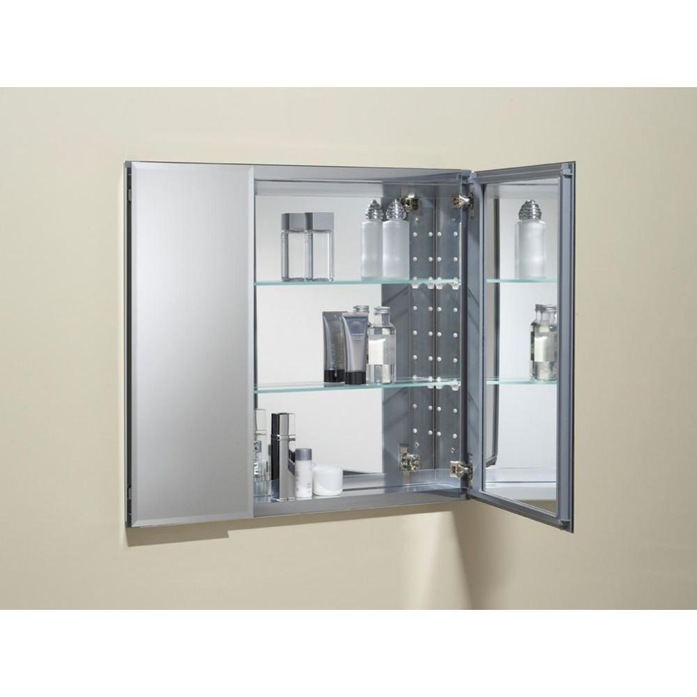 Details About Kohler 2 Door Medicine Cabinet Recessed Surface Mount Bathroom Silver Aluminum