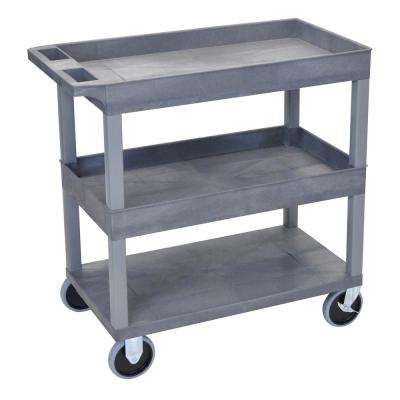EC 32 in. Utility Cart with 5 in. Casters in Gray