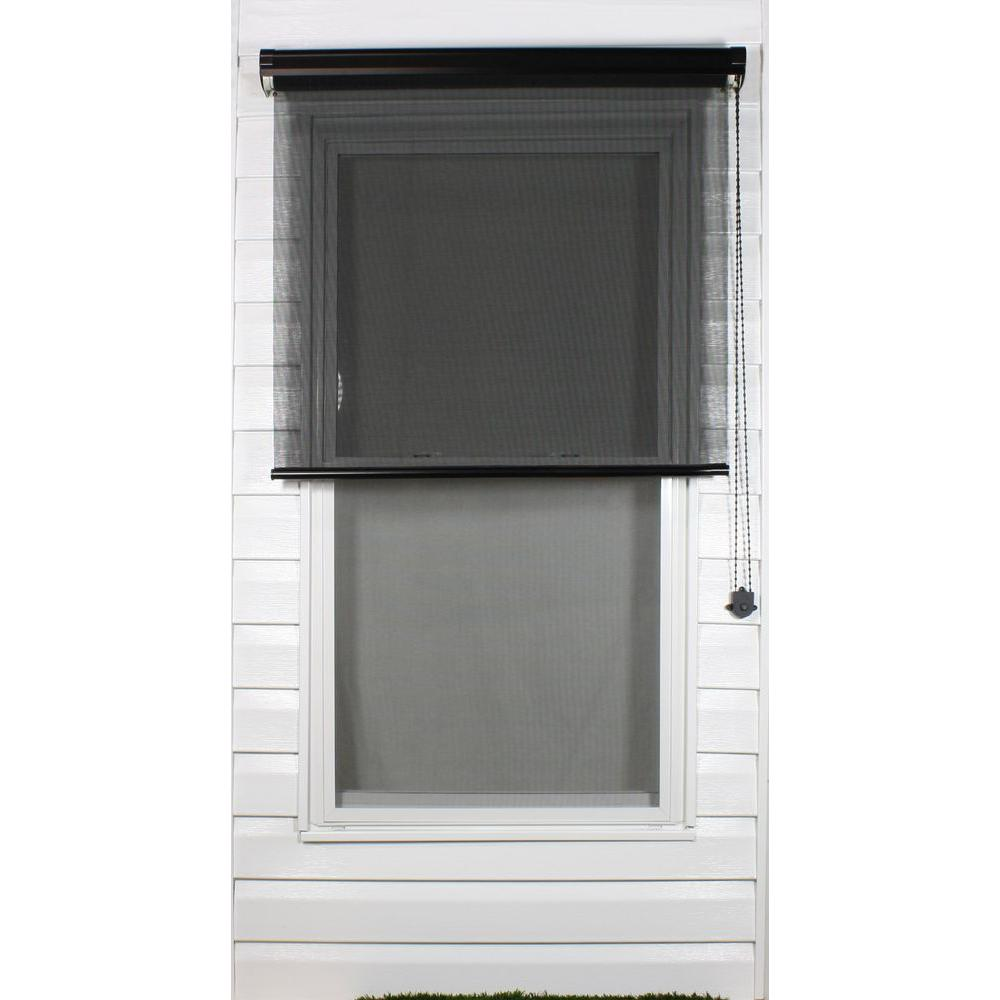 Coolaroo Black Exterior Roller Shade, 80% UV Block (Price Varies by Size)