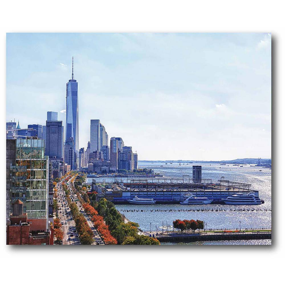 Courtside Market Freedom Tower Gallery-Wrapped Canvas Nature Wall Art 20 in. x 16 in., Multi Color was $70.0 now $38.93 (44.0% off)