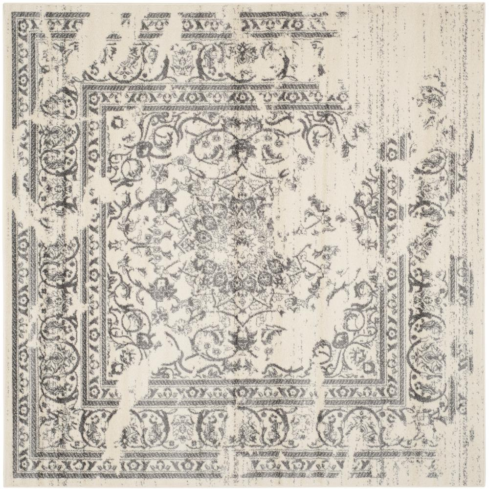 safavieh adirondack ivory silver 9 ft x 9 ft square area rug adr101b 9sq the home depot