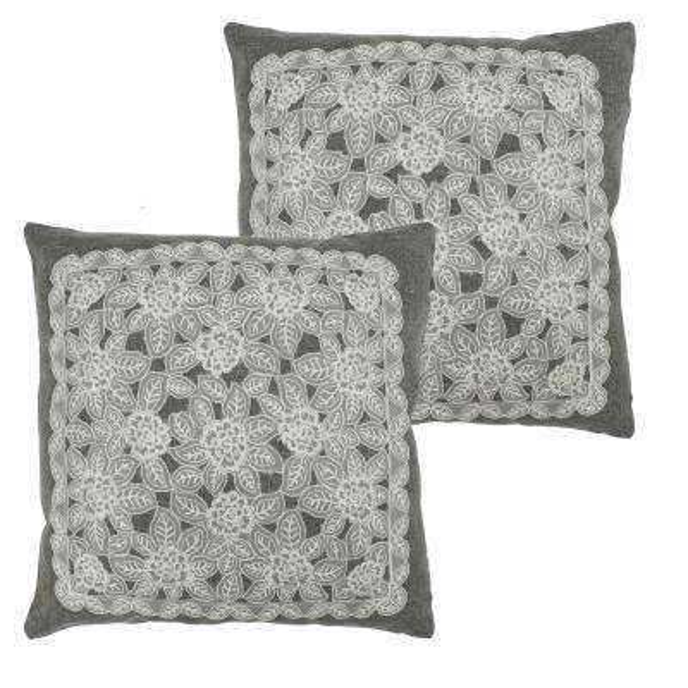Gretta Grey Polyester Slip Covers (Set of 2)