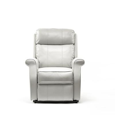 Lehman Dove Semi Leather Traditional Lift Chair