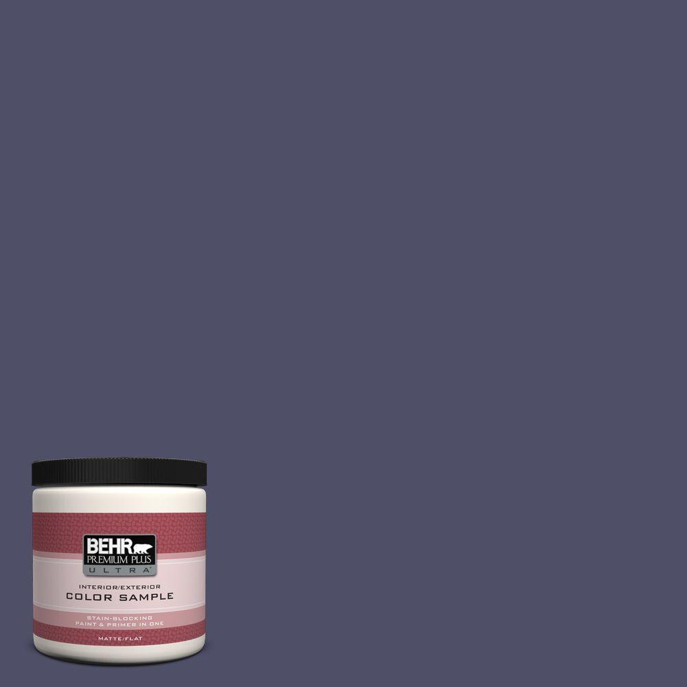BEHR Premium Plus Ultra 8 oz. #640F-7 Academy Purple Interior/Exterior Paint Sample