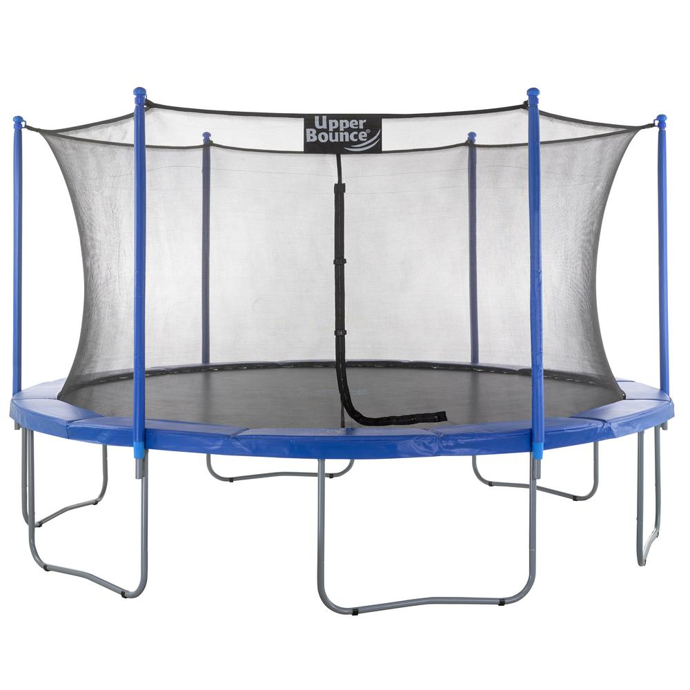 Upper Bounce 15 ft. Trampoline and Enclosure Set Equipped...