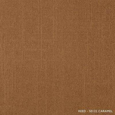 Reed Caramel Loop 19.68 in. x 19.68 in. Carpet Tiles (8 Tiles/Case)