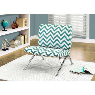 Teal Fabric Side Chair