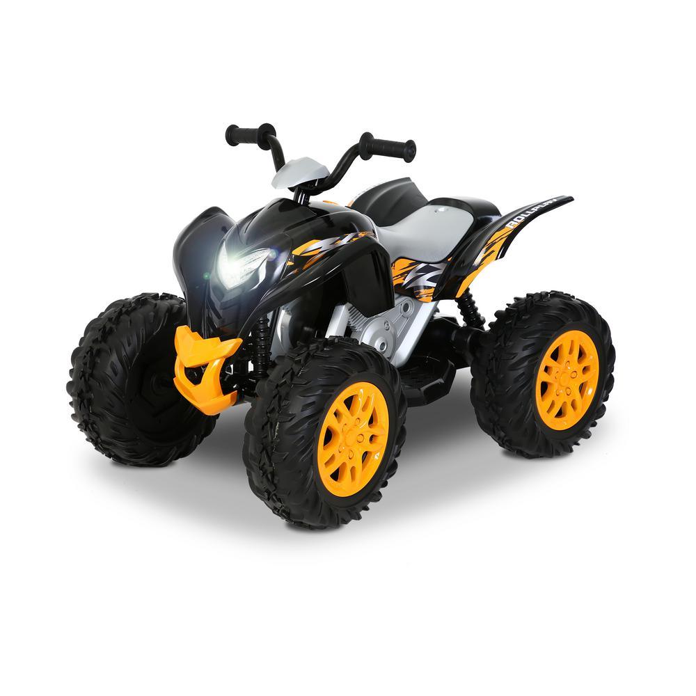 Powersport ATV 12-Volt Battery Ride-On Vehicle in Black