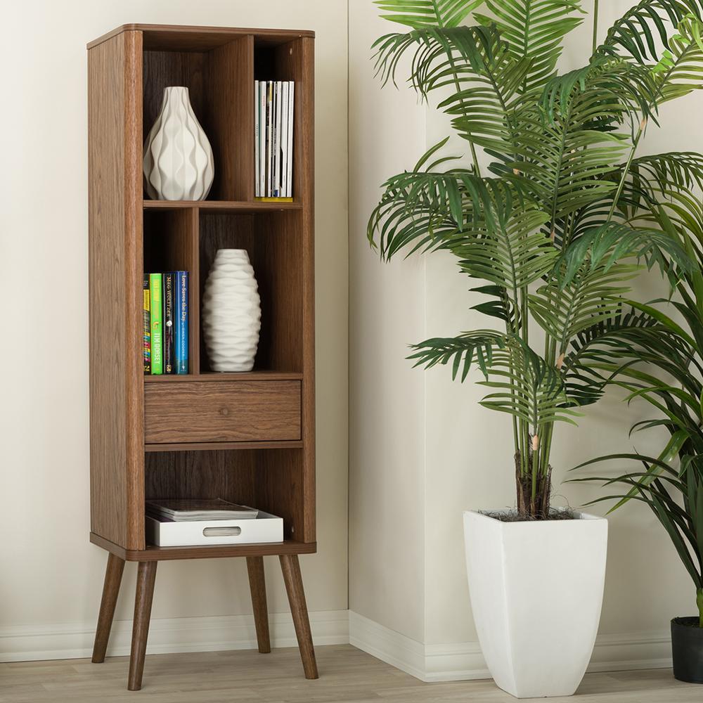 Baxton Studio Ellingham Medium Brown Storage Cabinet 28862-6785-HD