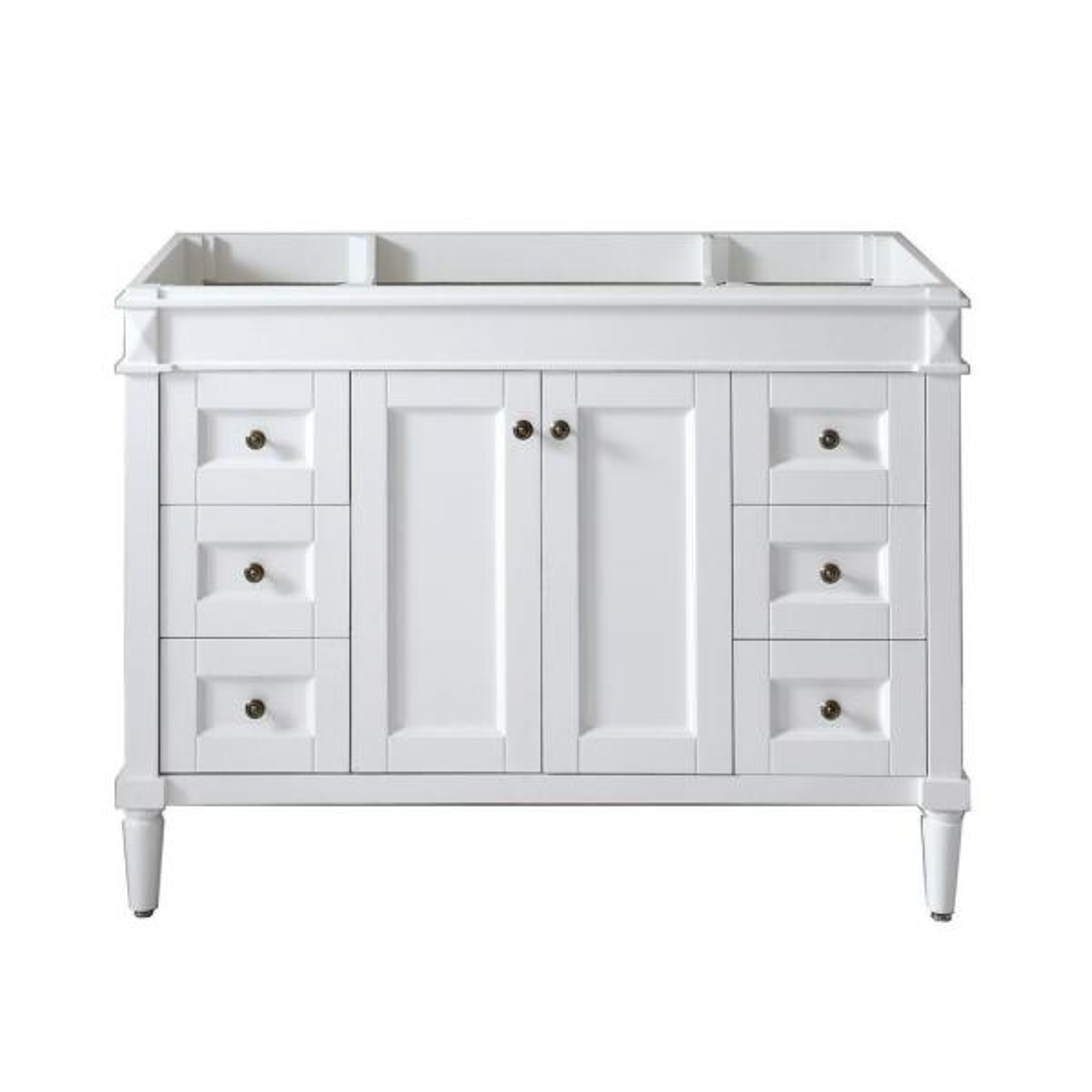 Tiffany 48 in. W Bath Vanity Cabinet Only in White
