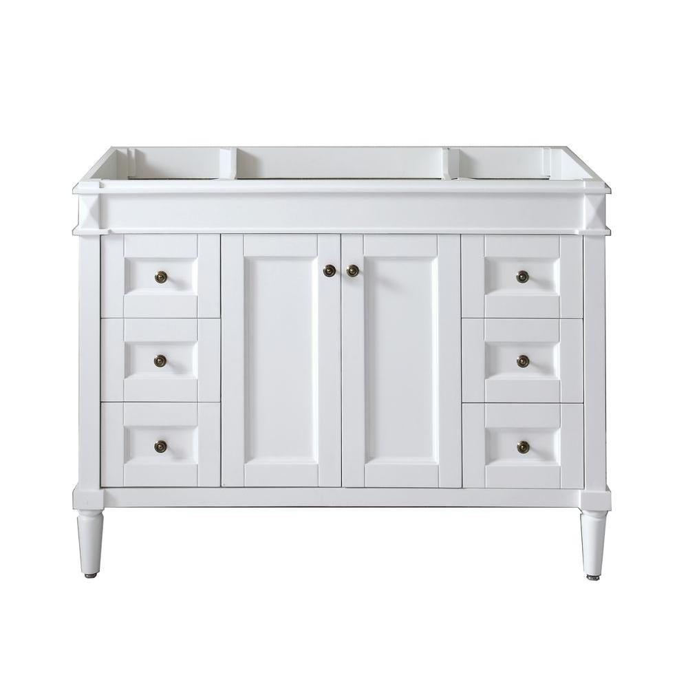 white bathroom vanity 48 virtu usa 48 in w bath vanity cabinet only in 21473