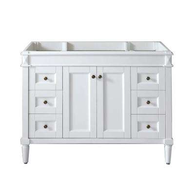 Tiffany 48 in. W x 22 in. D x 35.24 in. H Vanity Cabinet Only in White