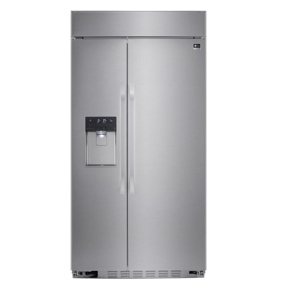 42 in. W 25.6 cu. ft. Built-in Side by Side Refrigerator