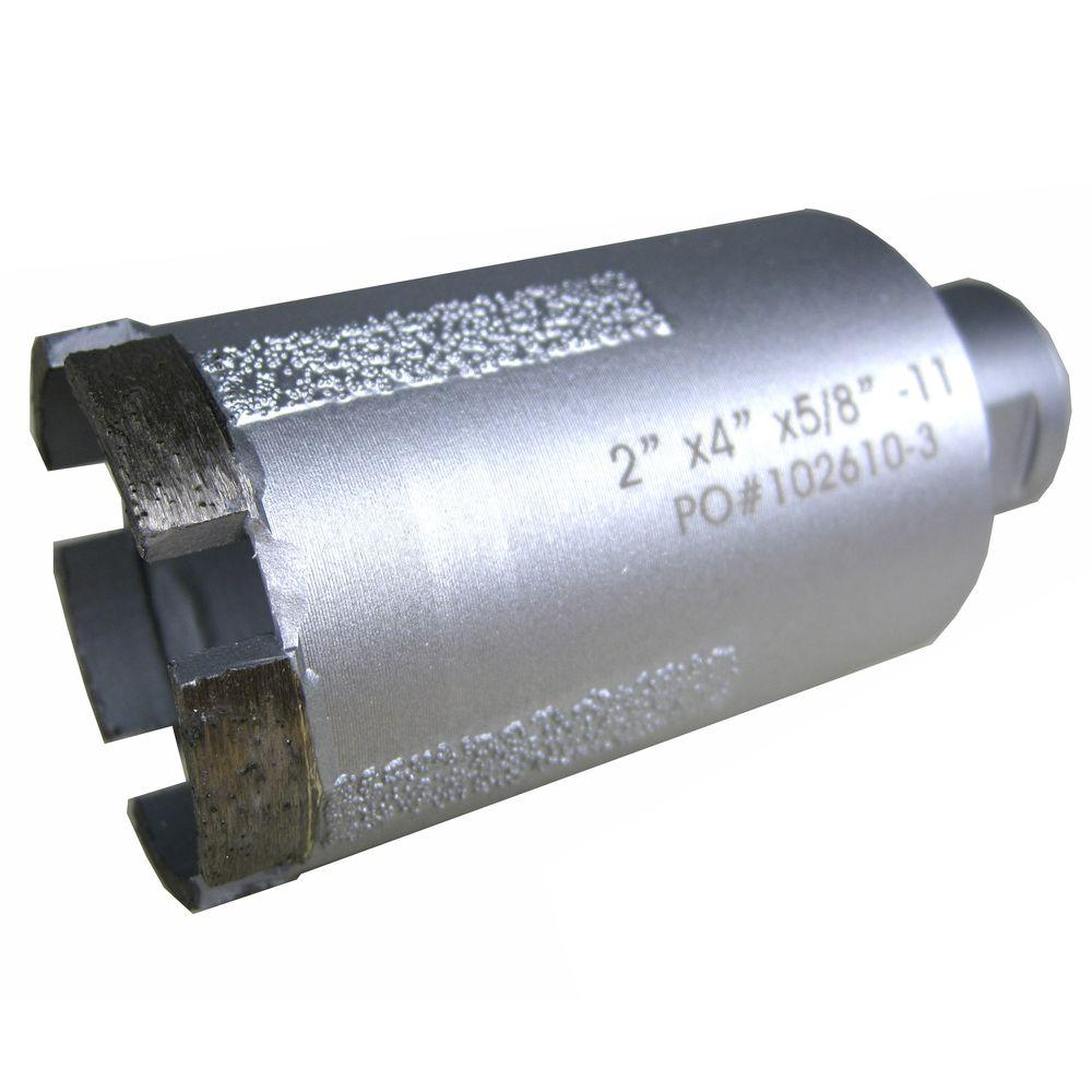 2 in. Wet Diamond Core Bit with Side Strips for Granite