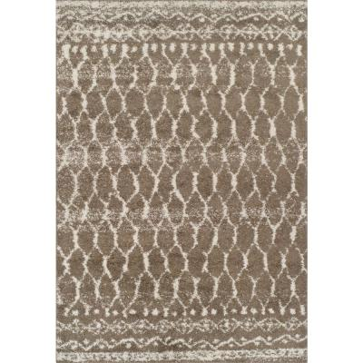 Harmony 5 Trellis Shag Taupe 9 ft. 6 in. x 13 ft. 2 in. Area Rug