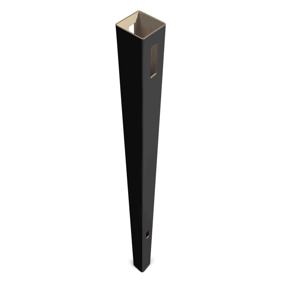 Veranda Pro Series 5 in. x 5 in. x 8-1/2 ft. Black Vinyl Anaheim Heavy Duty Routed Fence Line Post