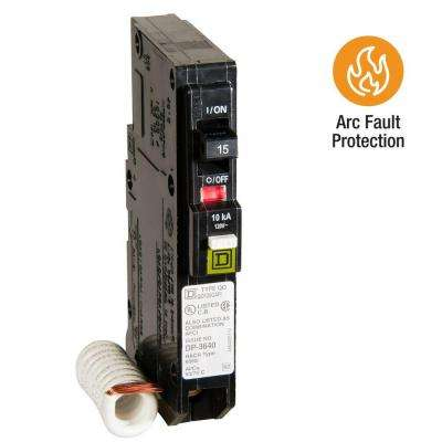 QO 15 Amp Single-Pole Combination Arc Fault Circuit Breaker