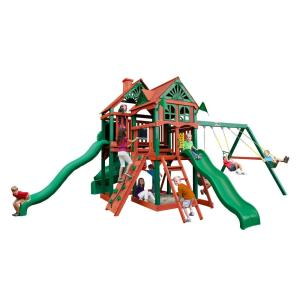 Gorilla Playsets Five Star II Deluxe Cedar Swing Set with Timber Shield Posts by Gorilla Playsets