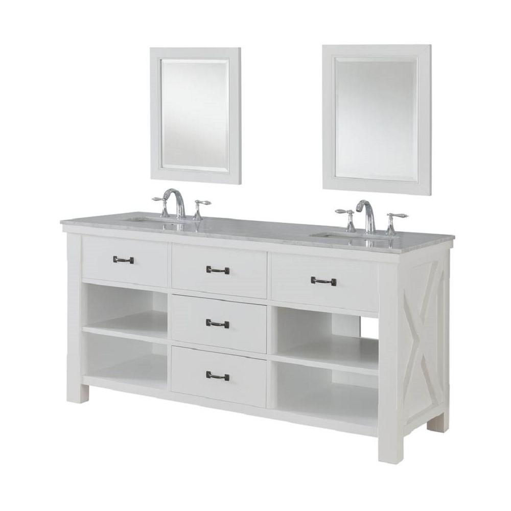 Direct Vanity Sink Xtraordinary Spa 70 In Double Vanity In Pearl