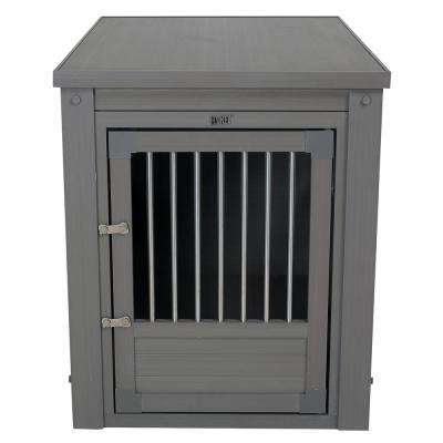 Indoor Pet Furniture with Chew Resistant Stainless Steel Grills in Nantucket Gray - Extra Large