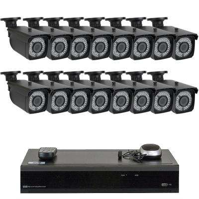 32-Channel 5MP DVR 4TB HDD Surveillance System with 16 Wired IP Cameras 2.8 - 12 mm Varifocal Zoom 150 ft. IR