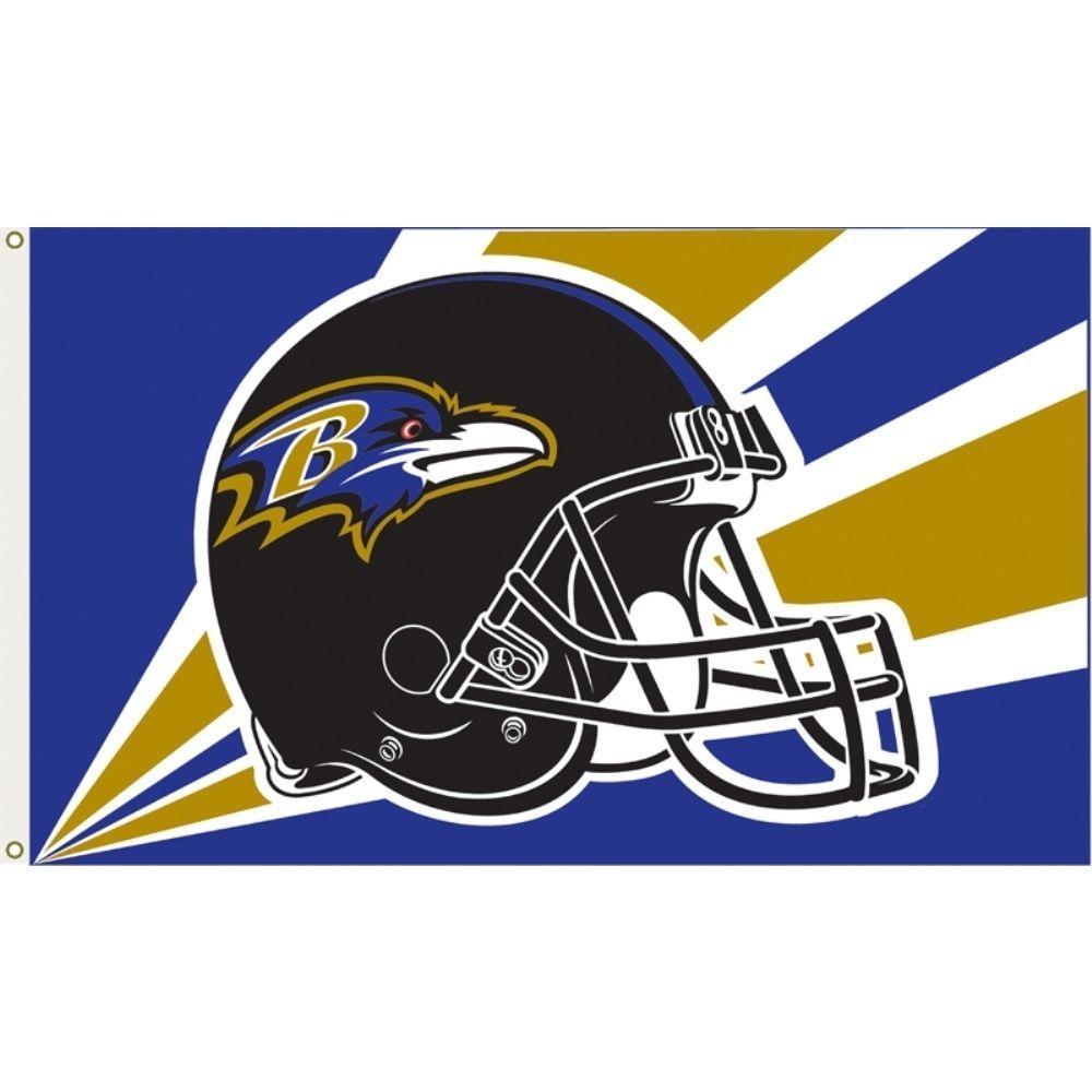 3 ft. x 5 ft. Polyester Baltimore Ravens Flag