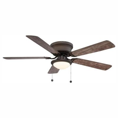 Hugger 52 in. LED Espresso Bronze Ceiling Fan