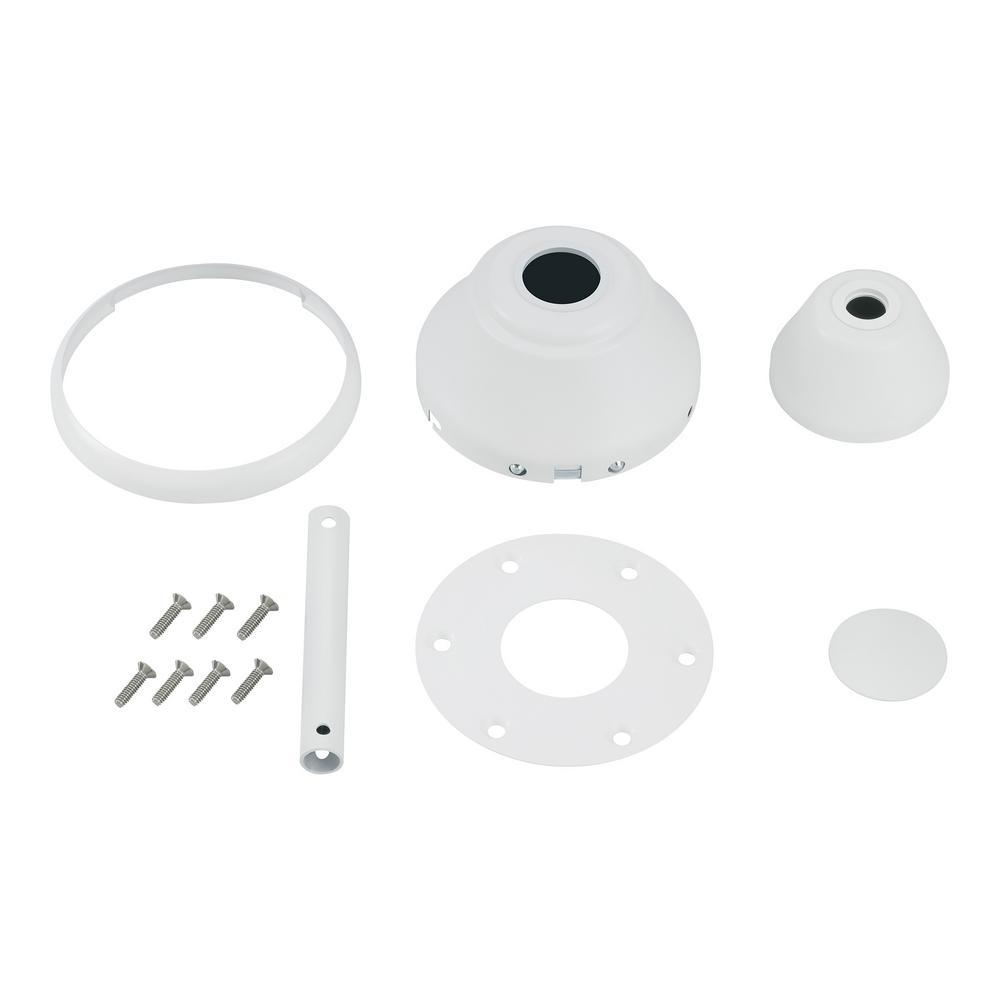 Maverick Ceiling Fan Matte White Custom Finish Kit
