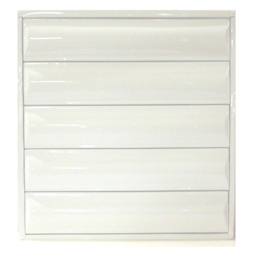 Air Master Windows and Doors 30 in  x 25 125 in  Titan Heavy Duty All  Louver Awning Aluminum Window in White
