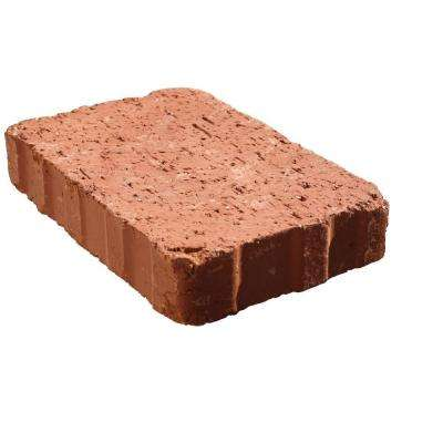 Relic 6 in. x 1.63 in. x 6 in. Red Clay Paver