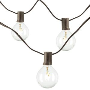 20-Light Clear Patio String-to-String Light Set
