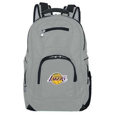 NBA LA Lakers 19 in. Gray Laptop Backpack