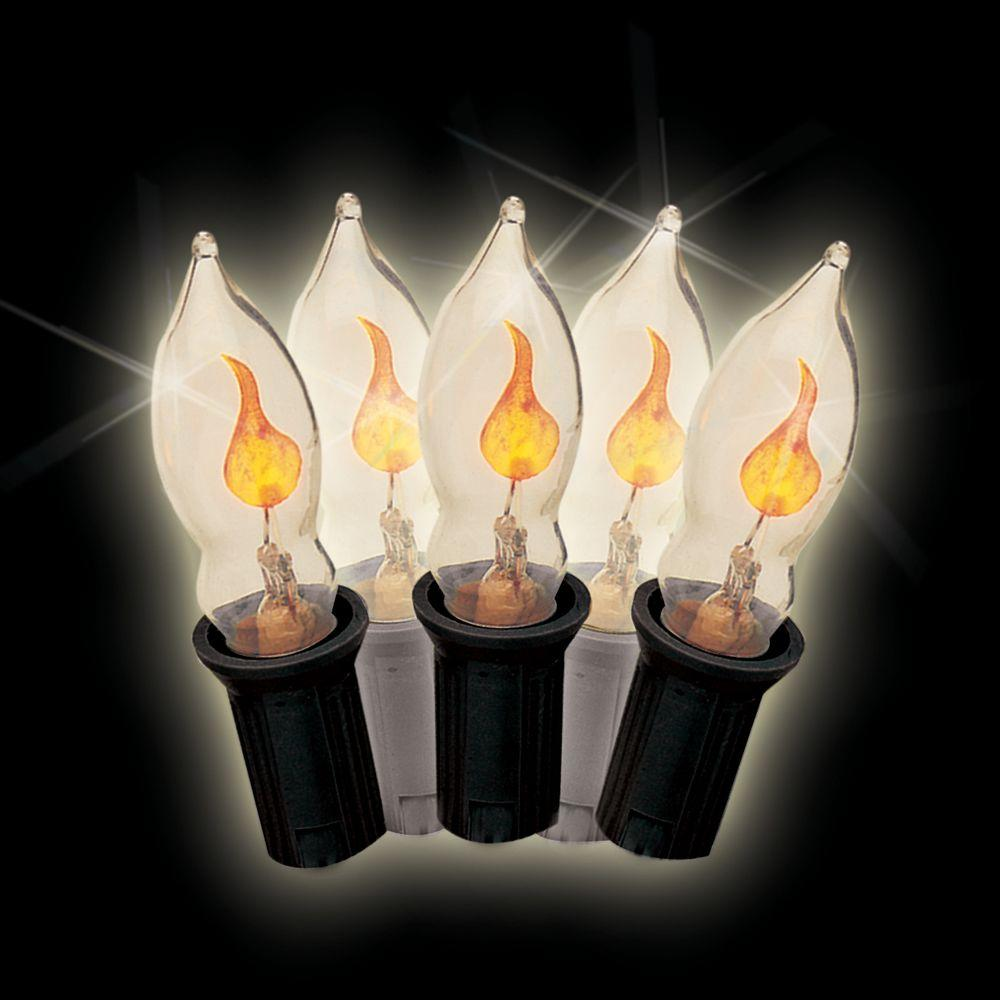 c7 7-light yellow halloween flicker flame light set (set of 2)-97