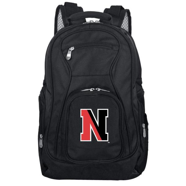 Denco NCAA Northeastern 19 in. Black Laptop Backpack CLNEL704