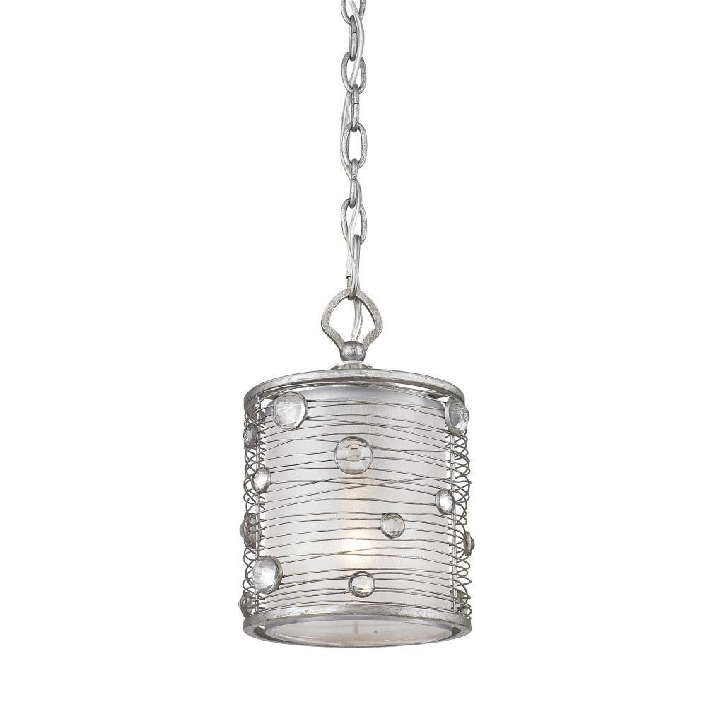Golden Lighting Joia Collection 1 Light Peruvian Silver Mini Pendant