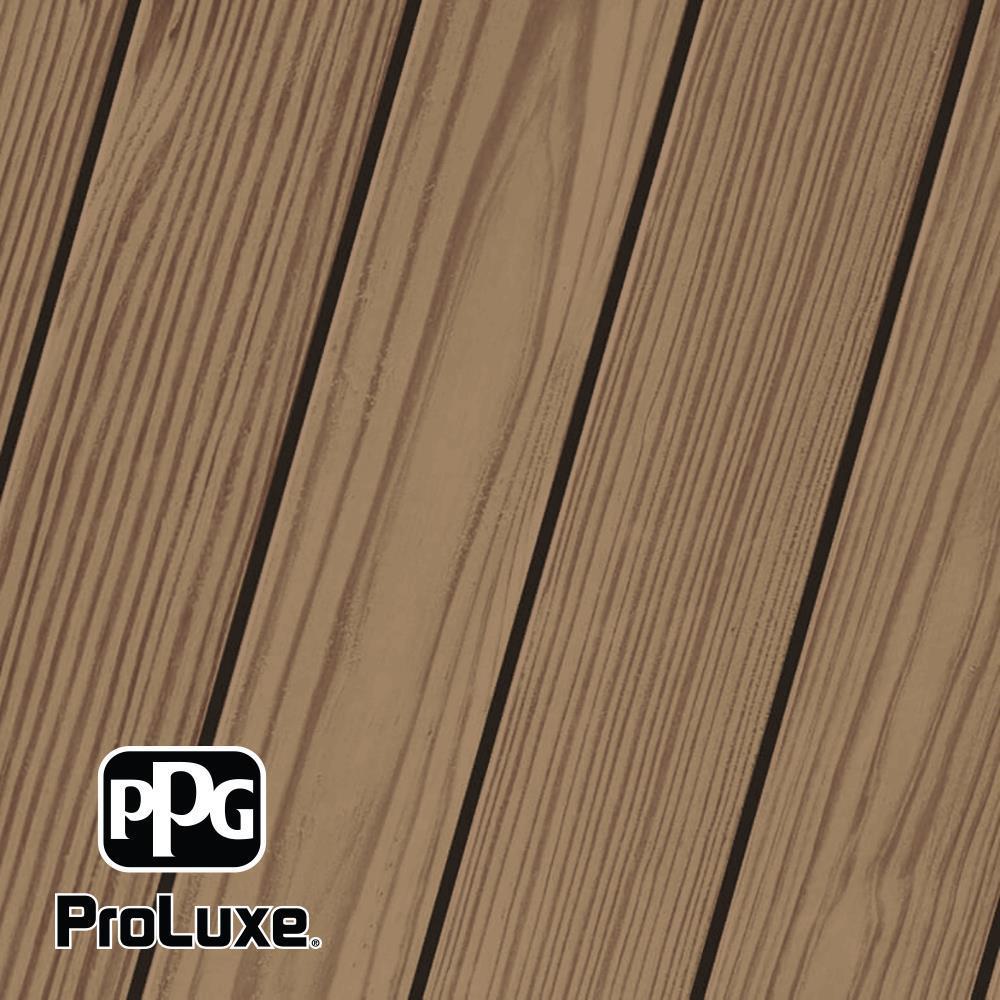 PPG ProLuxe 5 gal. #HDG-ST-201 Chestnut Brown SRD Exterior Semi-Transparent Matte Wood Finish