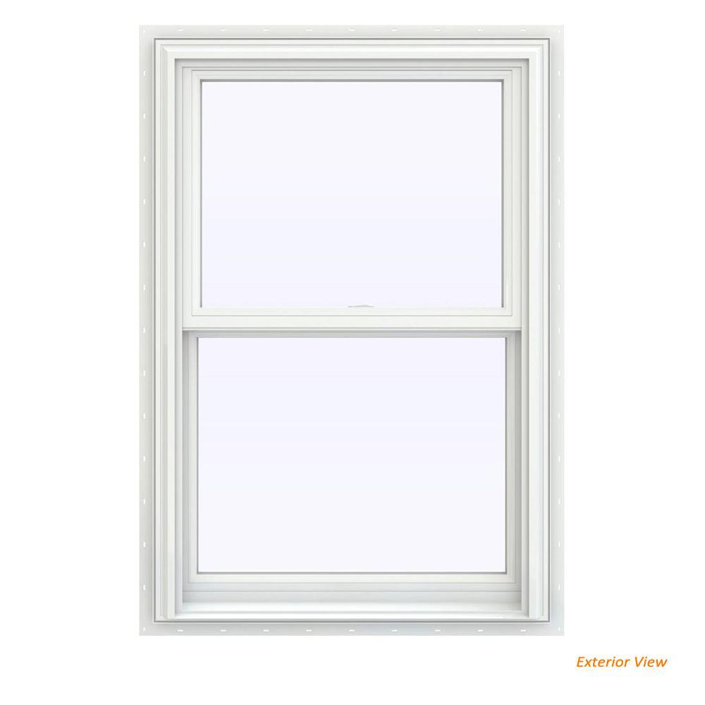 V 2500 Series White Vinyl Double Hung Window