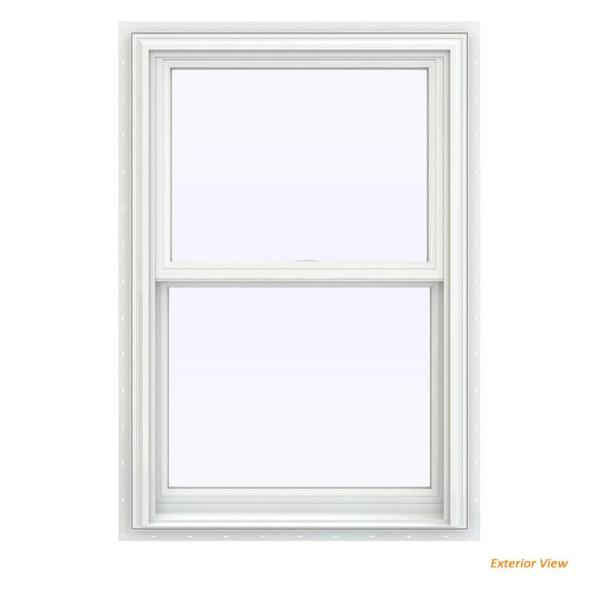 Jeld Wen 27 5 In X 35 5 In V 2500 Series White Vinyl Double Hung Window With Bettervue Mesh Screen Thdjw144400974 The Home Depot