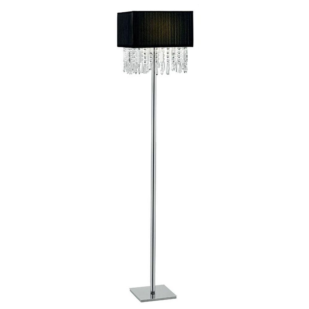 Eglo Aves 60-1/4 in. 1-Light Chrome Floor Lamp