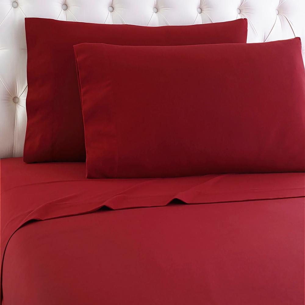 Queen 4-Piece Scarlet (Red) Sheet Set