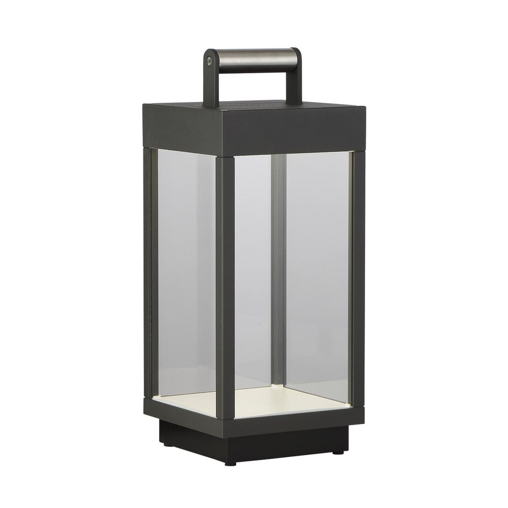 Eurofase 14 in. Graphite Grey Outdoor Table Lamp with ...