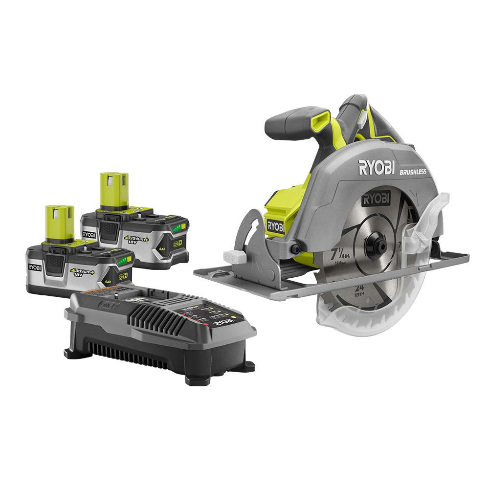 Ryobi 18 volt one 7 14 in circular saw tool only p508 the ryobi 18 volt one 7 14 in circular saw tool only p508 the home depot keyboard keysfo Image collections