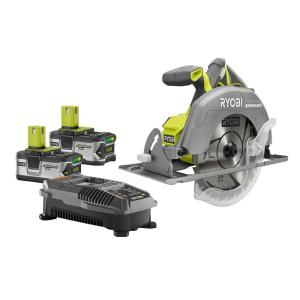 Ryobi 18-Volt ONE+ Cordless Lithium-Ion Brushless 7-1/4 in. Circular Saw Kit with (2) 4.0Ah Batteries and Charger