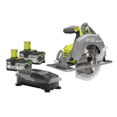 18-Volt ONE+ Cordless Lithium-Ion Brushless 7-1/4 in. Circular Saw Kit with (2) 4.0Ah Batteries and Charger